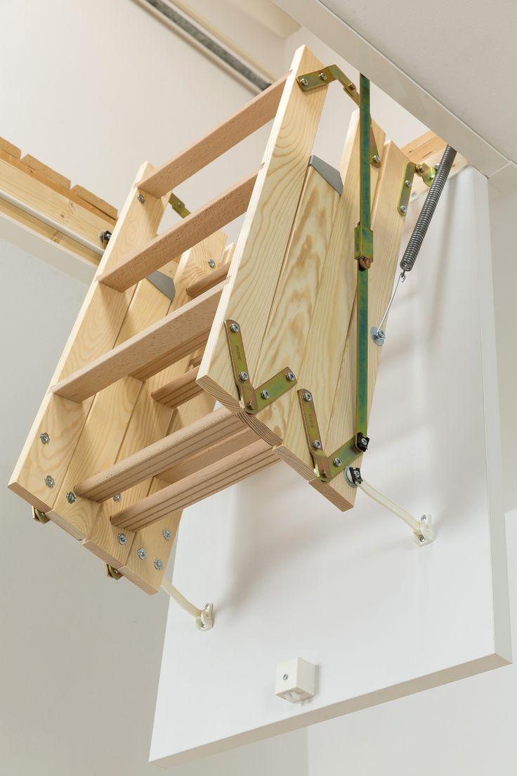 Dolle ClickFix Mini Timber Folding Loft Ladder