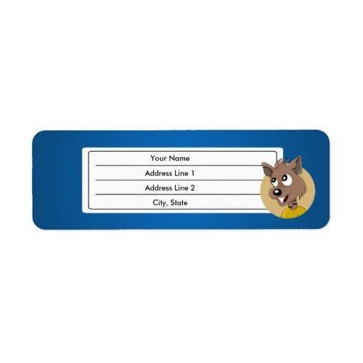 Smiling hyena cartoon custom return address labels
