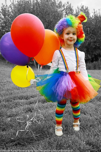 Cute Clown Tutu Costume by SmilingMoonBoutique on Etsy, $59.00