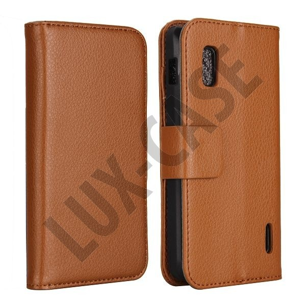 FlipStand Google Nexus 4 Leather Case (Lys Brun)