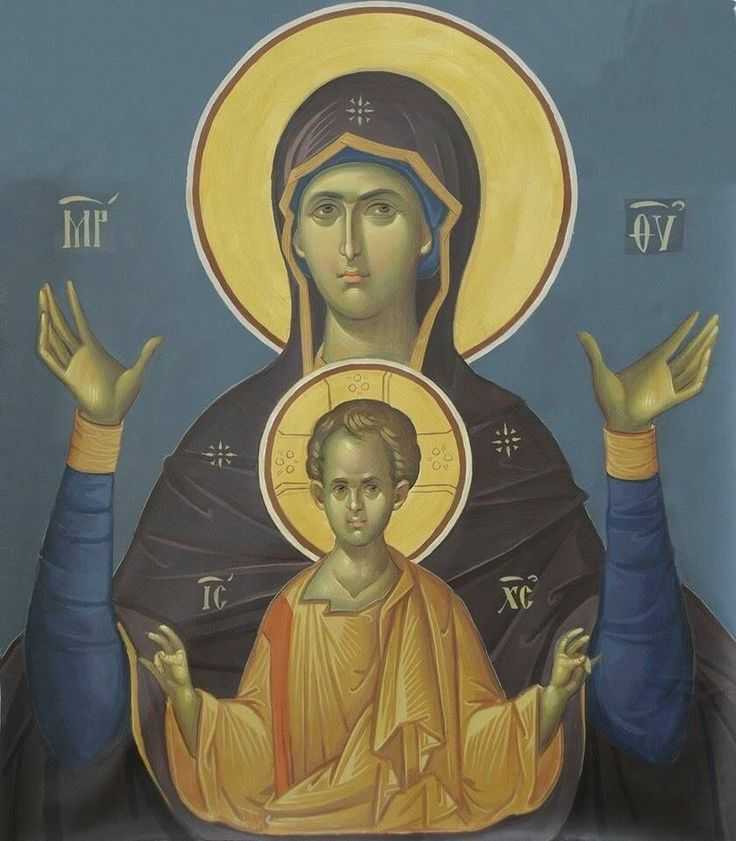 Mother of God of the Sign Russian icon