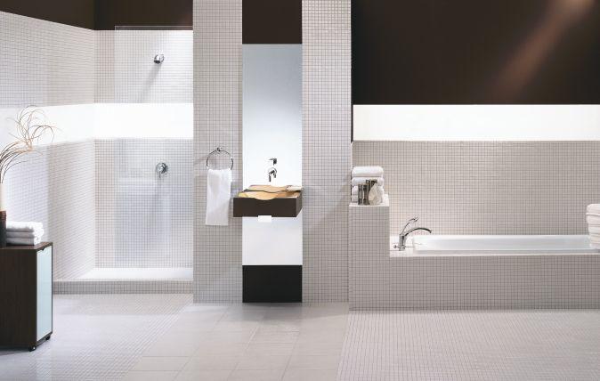 Delikatne mozaiki do łazienki