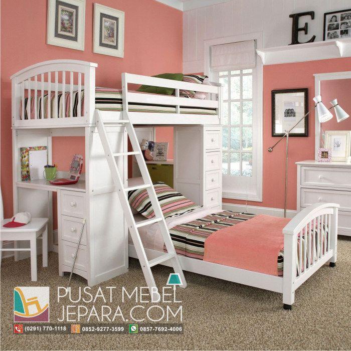 tempat-tidur-anak-tingkat-sambung-meja-belajar