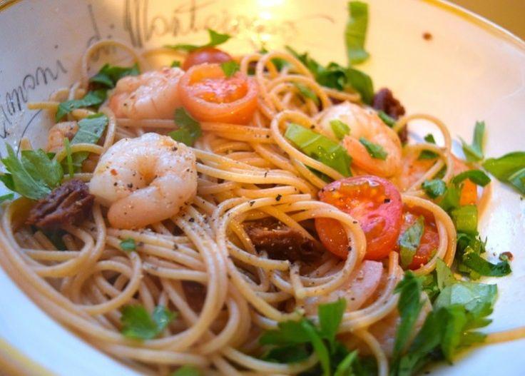 Spaghetti met chiligarnalen