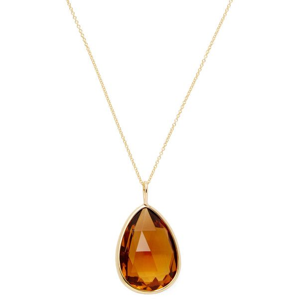 Goshwara Women's Gossip Citrine Pear Shape Pendant Necklace - Orange (€845) ❤ liked on Polyvore featuring jewelry, necklaces, orange, orange necklace, pendant jewelry, 18 karat gold necklace, 18k necklace and citrine necklace