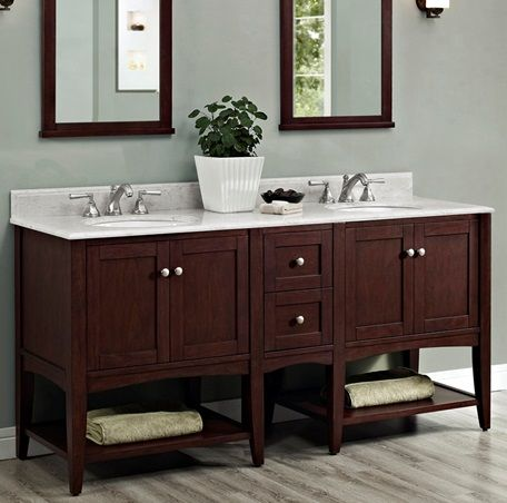 Create Photo Gallery For Website Shaker Americana Open Shelf Modular Vanity Habana Cherry