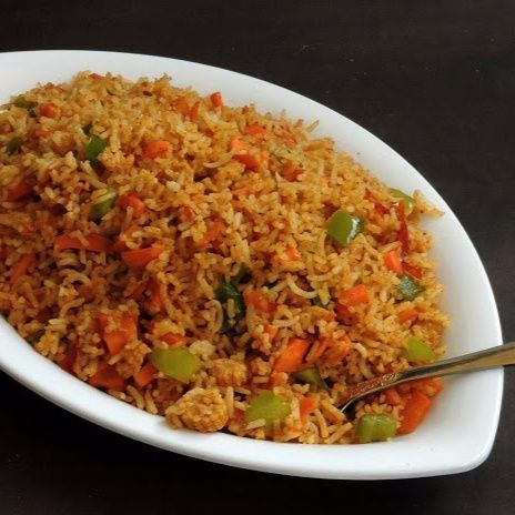 Tawa Vegetable Fried Rice / Desi Fried Rice, How to make Tawa Vegetable Fried Rice / Desi Fried Rice