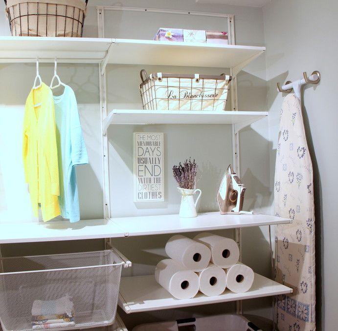 Laundry Room Lady Cave   Livia Drennan   Interior Design Oakville   IKEA ALGOT System