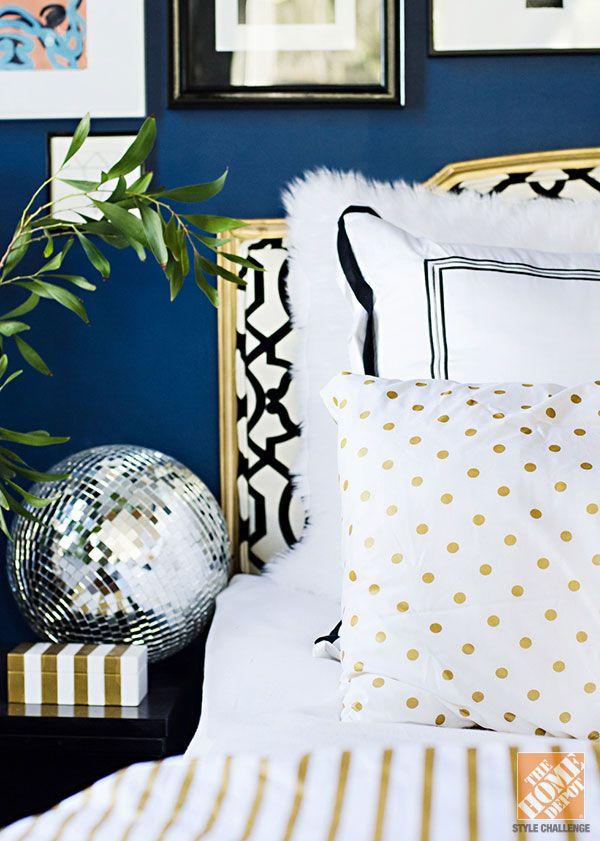 Un décor glamour pour la chambre