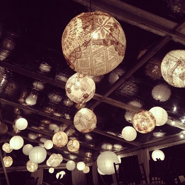 18 best images about dining rooms ideas on pinterest for Doily light fixture