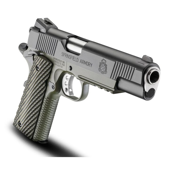 """Springfield Armory Marine Corps Operator 1911 5"""" Match Grade Barrel Chambered in .45 ACP Steel Frame with Rail Olive Drab OD Green and Black Finish Low Profile Tritium Night Sights 7 Round Magazine, The Guns And Gear Store - The Best Service And The Best Prices Always!"""
