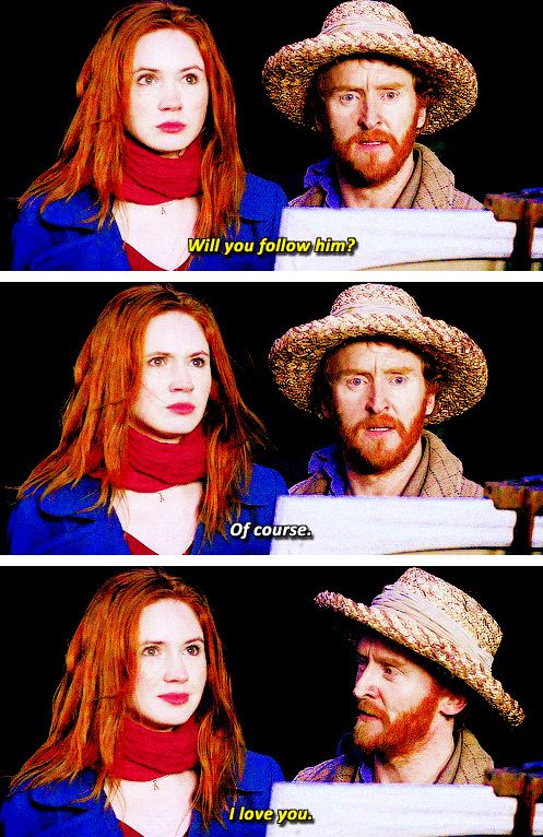 """""""Don't follow me under any circumstances."""" Vincent and The Doctor.  i loved this episode. it made me cry actually"""