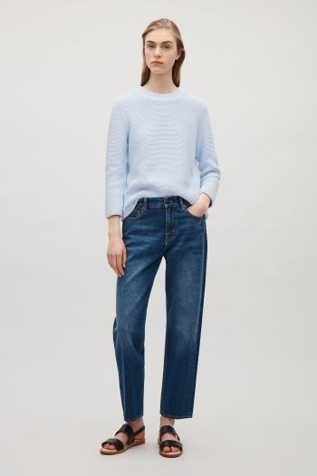 COS image 1 of Textured knit jumper in Powder Blue