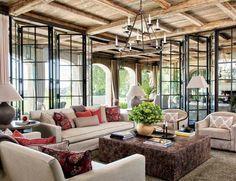 Gisele Bundchen and Tom Brady's House in Los Angeles. #losangeles #gorgeous #livingroom #mix #colors #sofa