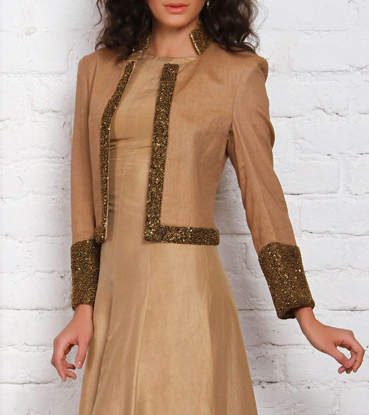 Golden Embroidered & Sequined Jacket