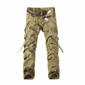 Mens Cargo Pants Multi Pockets Casual Cotton Pants Work Overalls - US$32.99