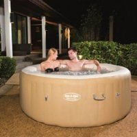 Bestway Lay-Z-Spa Palm Springs Inflatable Hot Tub - $337.49 right now on amazon.com. It's 44% off the reg. price of around $600. This is the best price I've seen for this kind of hot tub! Less than 1/3 the price of a regular type of tub & with 2x the features & durability of those cheaper inflatable models, it's a worthy investment if you really, really need a decent hot tub! And yes, I really, really want/need one! :)