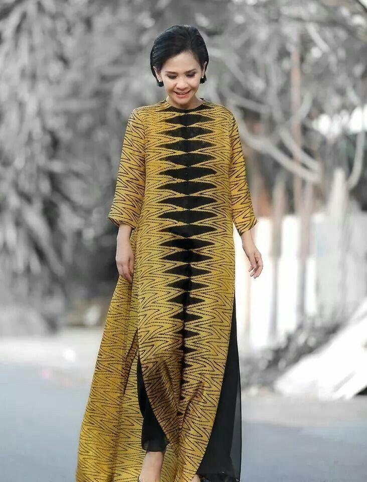 Maxi dress tenun troso