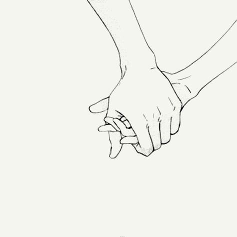 Händchenhalten gezeichnet