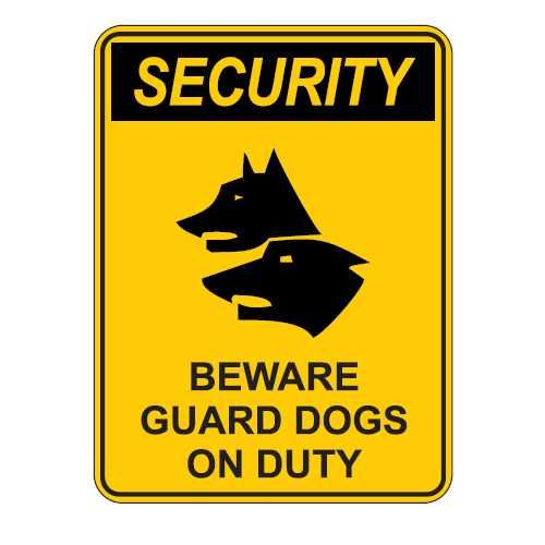 Scary Beware Of Dog Signs Guard Dogs Sign Advanced Warehouse Solutions Aws Vinyl Pinterest And