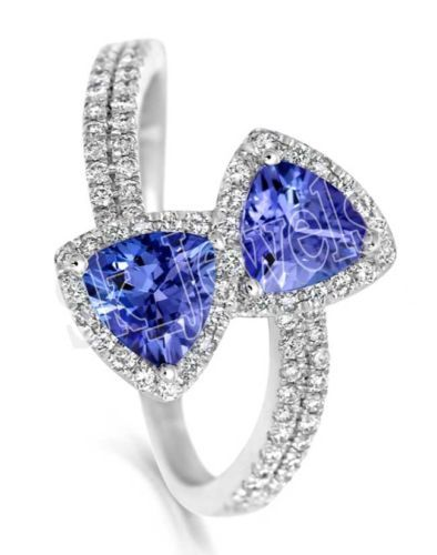 Diamond Blue Sapphire Ring by sk_jewels
