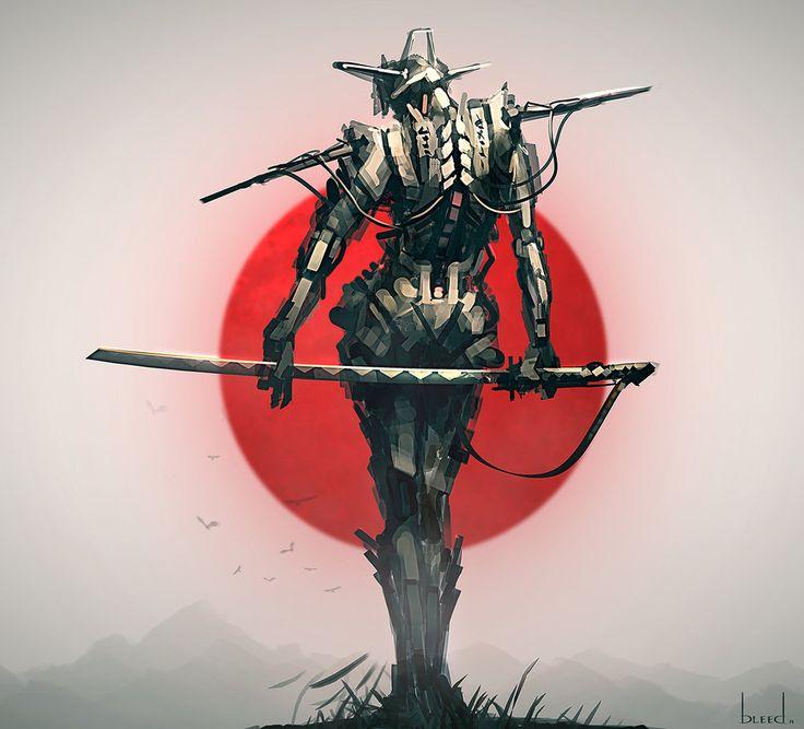 Cyborg Samurai by blee-d.deviantart.com on @deviantART. http://www.artbleed.com