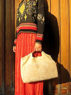 Wait and SEE presents SCOTCH AND SODA sweater ALYSI skirt MERCULES bag