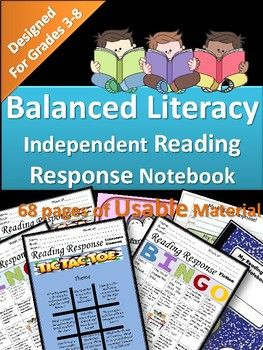 Here is everything you need to successfully operate the Independent Response Notebook in your Classroom! This Resource Includes 68 Pages of: -Teaching Tips -Balanced Literacy -Printable Response Notebook Cover -Three Varieties of Reading Logs -Printable Journal Pages -Printable Reading Response Notebook Labels -Reading Response Bingo for: -Fiction -Non Fiction -Figurative Language -JUST Reflection -Literature Elements -Blank Bingo Cards -Literary Element Tic Tac Toe Sheets and Literary Elemen...