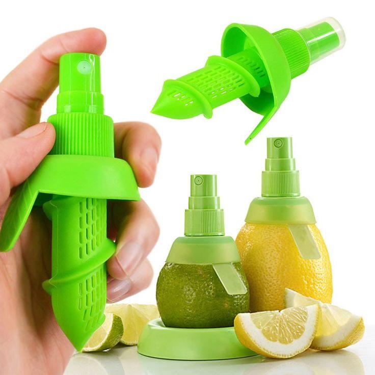 Home Kitchen Lemon Juice Sprayer Fruit Citrus Spray Mini Squeezer Hand Juicer Cooking Tool Supplies