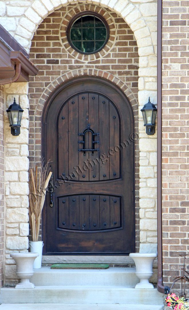 Nicks Buildings Sw 04 Arched Castle Door Stained In A