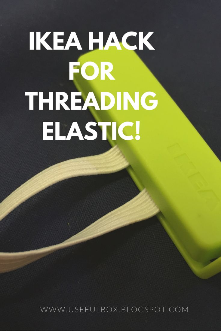 It's an #ikeasewinghack!  Stop your elastic from springing back through the casing while threading! xx
