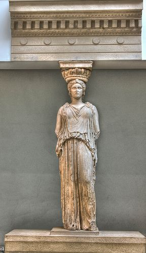 The stolen Greek Goddess, Kariatida, British Museum