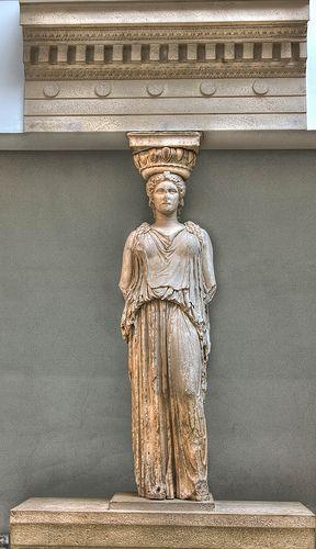 The stolen Greek Goddess, Kariatida, British Museum