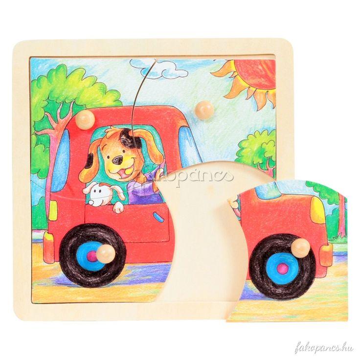 A fogantyús puzzle élménye mellet hozzájárul a gyermek szín- és formafelismerő, valamint a kombinációs készségének fejlesztéséhez.