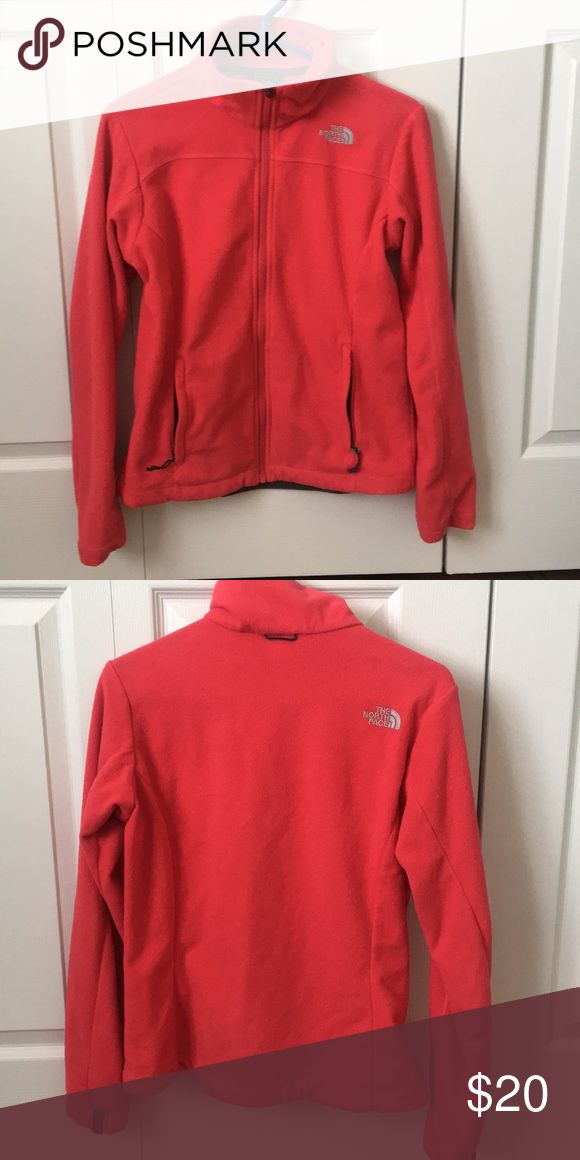Red north face fleece Warm north face fleece red color size small North Face Jackets & Coats