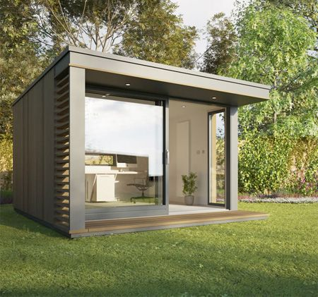British company Pod Space makes and sells prefabricated garden buildings that were designed to be used as guest rooms, studios, and home offices. Compact eco-friendly pods will fit unobtrusively into most backyards and larger models will accommodate up to four adults. They come with integrated workstations, lighting, and bookshelves.
