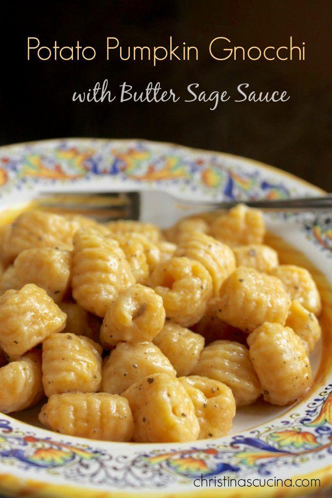 Potato Pumpkin Gnocchi with Butter Sage Sauce