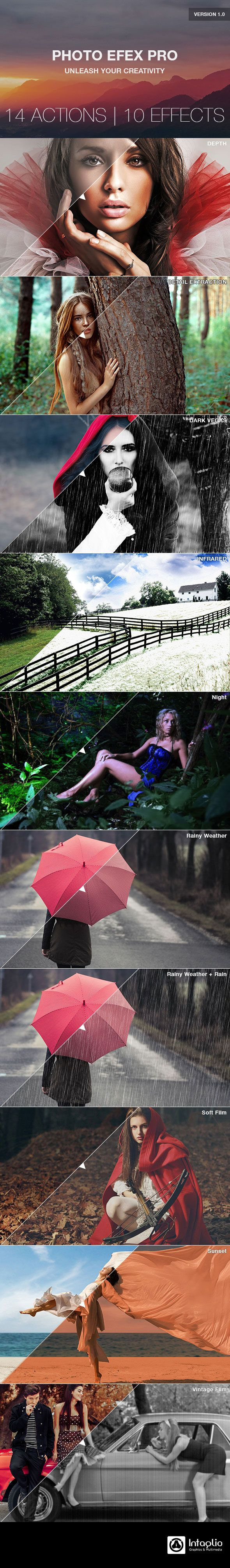 Photo Efex Pro Photoshop Actions #photoeffect