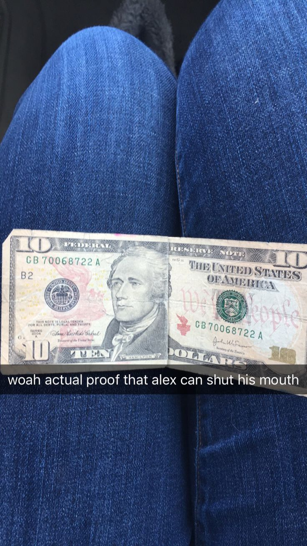Ten dollar founding father without a father. #hamilton #hamiltonthemusical