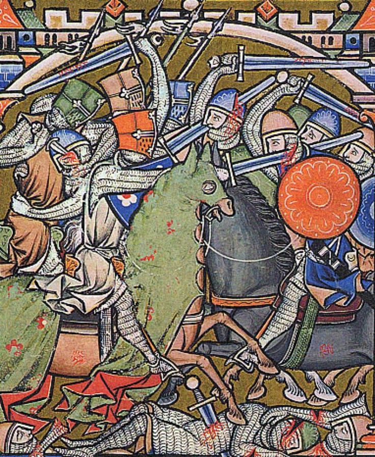Gruesome Wounds Being Inflicted In Battle Scene From The