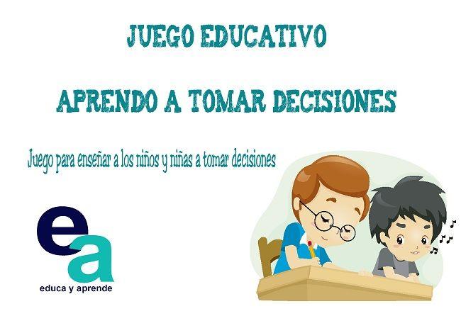 Juego Educativo Aprendo A Tomar Decisiones Toma De Decisiones Juegos De Liderazgo Libros De Desarrollo Personal