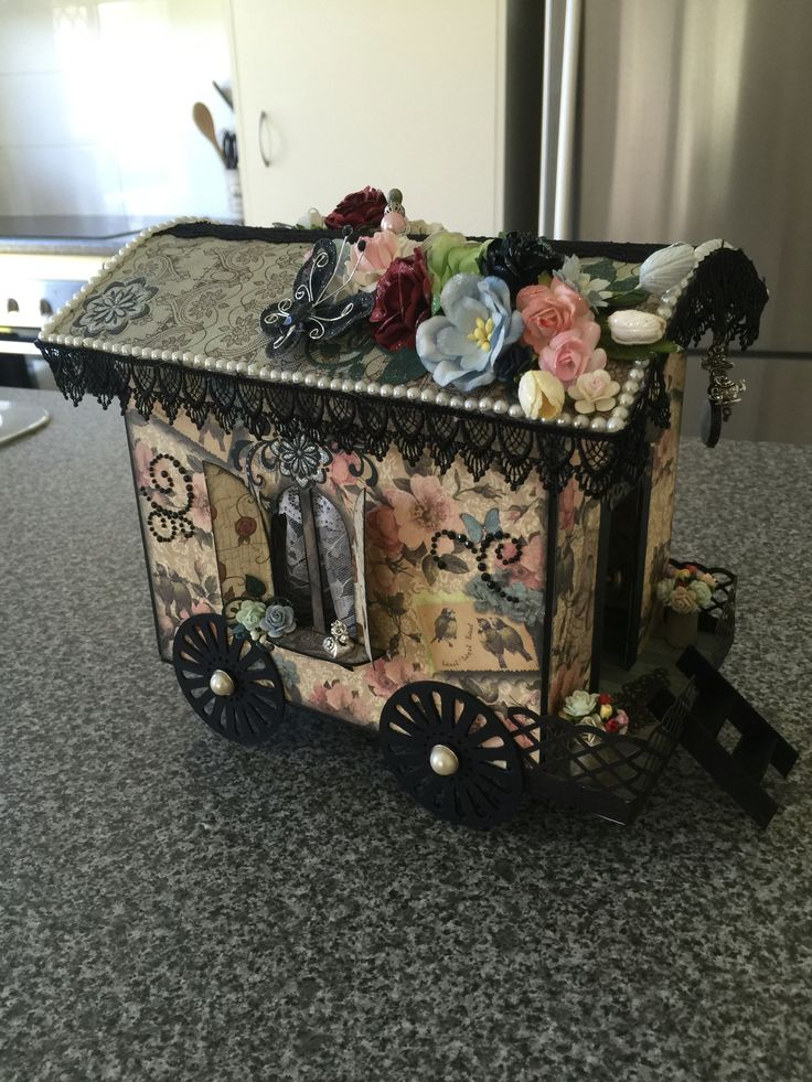 Gypsy wagon I made for a friends mother:)
