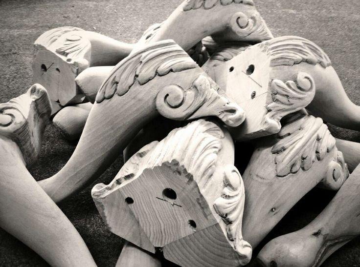 carved furniture feet #madebyhand #bertoprogetti #madebyberto
