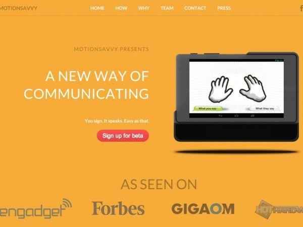 手話を音声化するソフトウェアが開発中、聴覚障がい者の会話をサポート | Techable(テッカブル)-海外のネットベンチャー系ニュースサイト