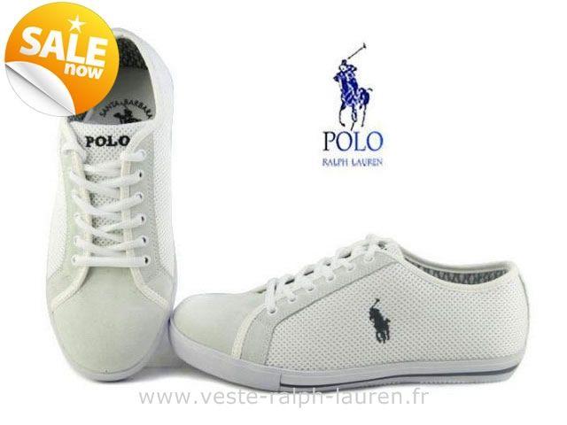 officiel polo by Ralph Lauren hommes toile cantor low shoe sport pas cher 004 blanc Chaussure Ralph Lauren Solde