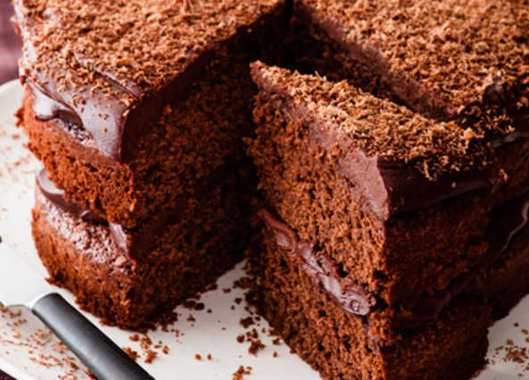 A classic chocolate cake sandwiched together with a soured-cream chocolate frosting. Looks and tastes great, but is surprisingly easy to make.