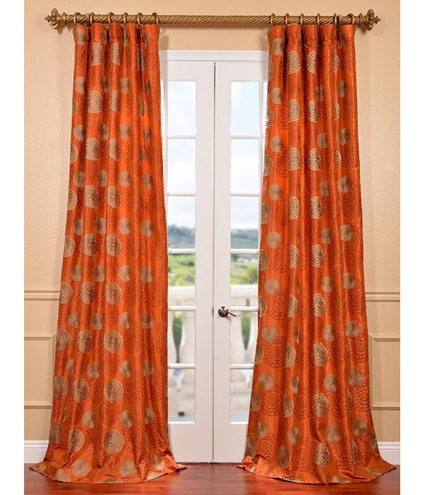 104 best CURTAINS-RED and ORANGE images on Pinterest | Curtain ...