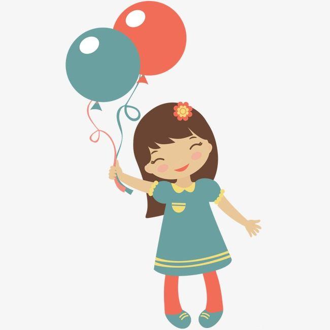Balloon Girl Balloon Clipart Cartoon Little Girl Cartoon Girl