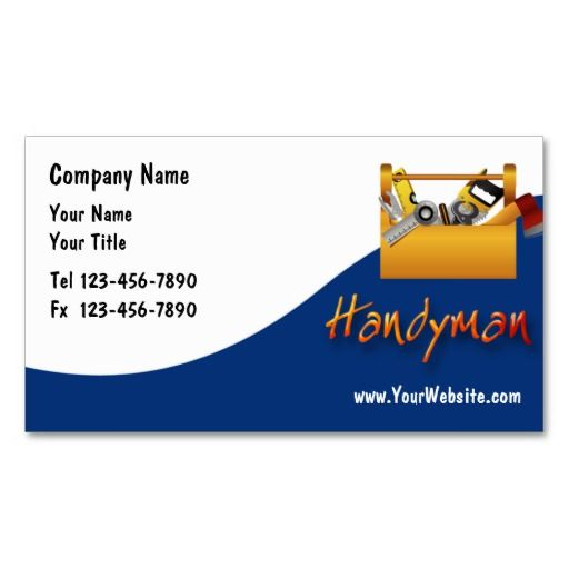 20 best business cards images on pinterest business card design handyman business cards reheart Choice Image