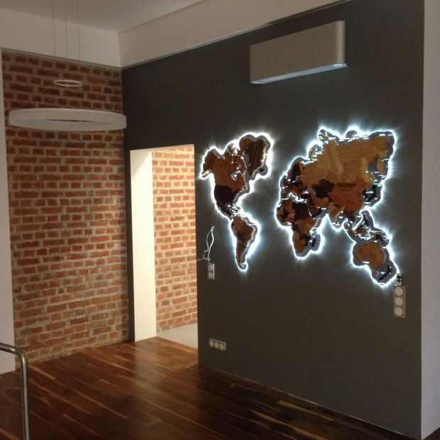 Wooden World Map. – #Map #Wooden #World